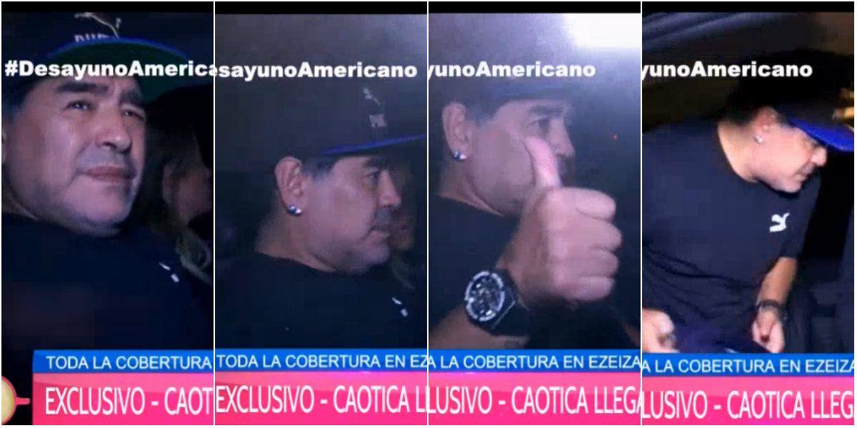 Diego Maradona llegó al país: cómo será su itinerario en Buenos Aires