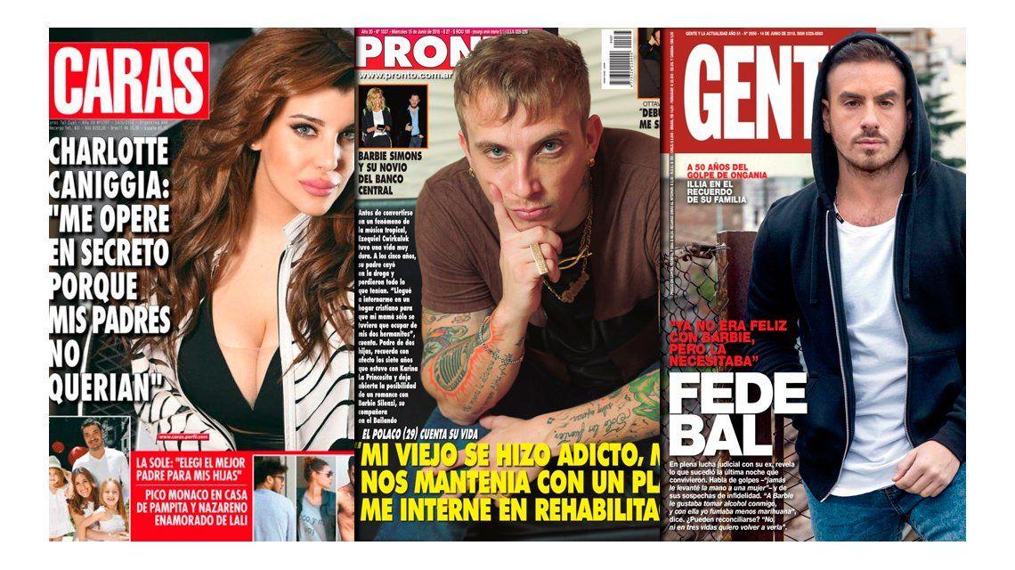 El Polaco y Fede Bal hablan de rehabilitación y drogas; y la operación secreta de Charlotte Caniggia