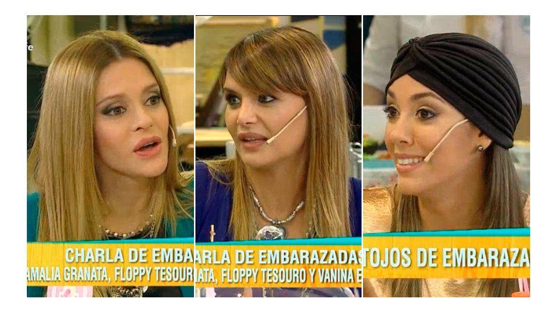 Embarazadísimas: Vanina Escudero, Amalia Granata y Floppy Tesouro revelan sus antojos
