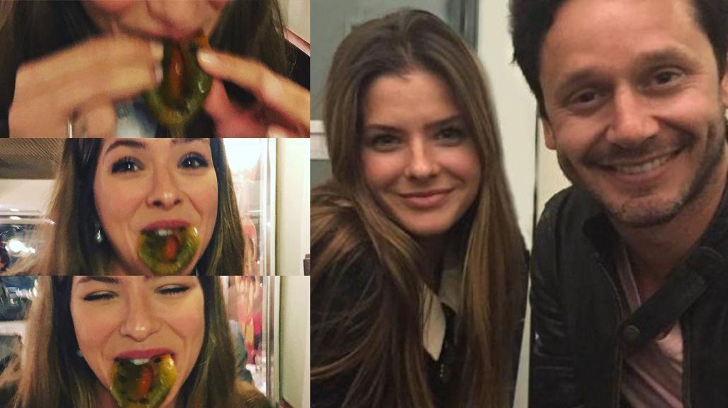 ¿Qué tiene la China Suárez en la boca? la divertida foto de la actriz cenando con Benjamín Vicuña