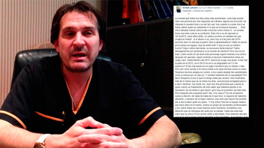 El furioso descargo de Aníbal Lotocki: Tan bajo se puede caer por dos segundos de cámara