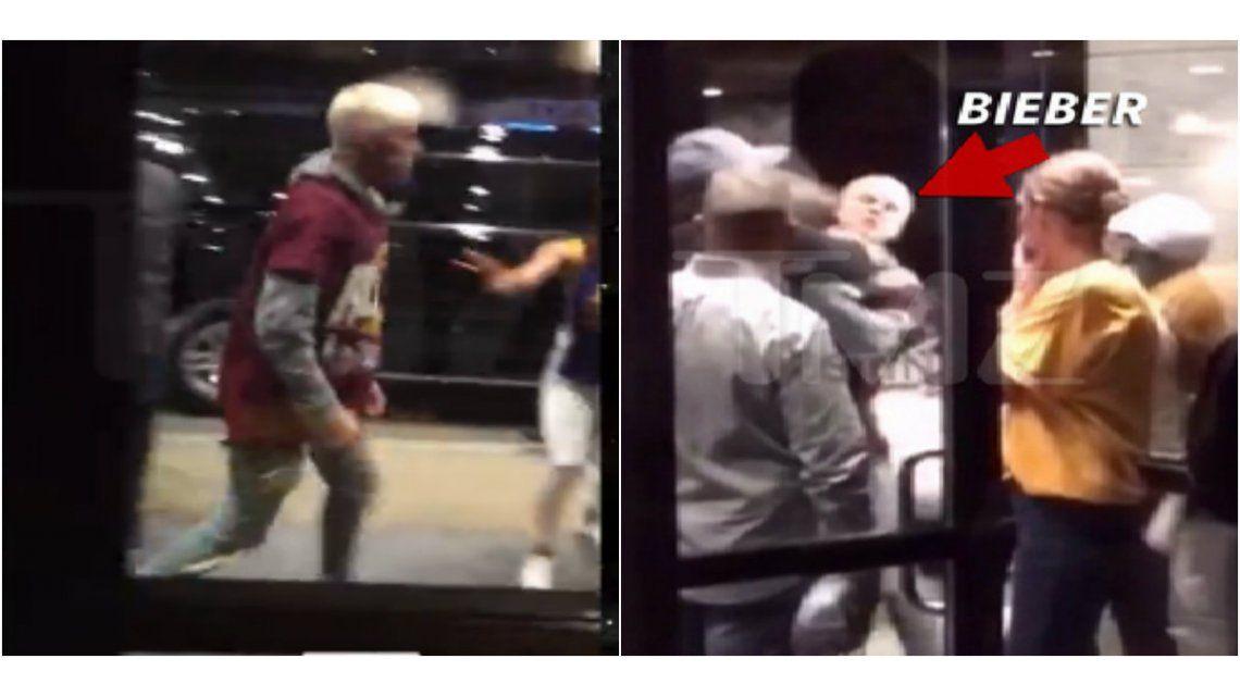 El video de Justin Bieber, a las piñas con un hombre