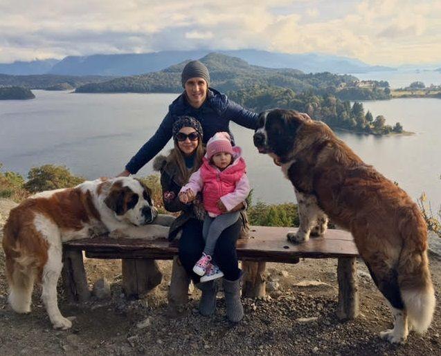 Las románticas vacaciones de Tamara Alves con Patricio Toranzo y su hija Shuliana en Bariloche