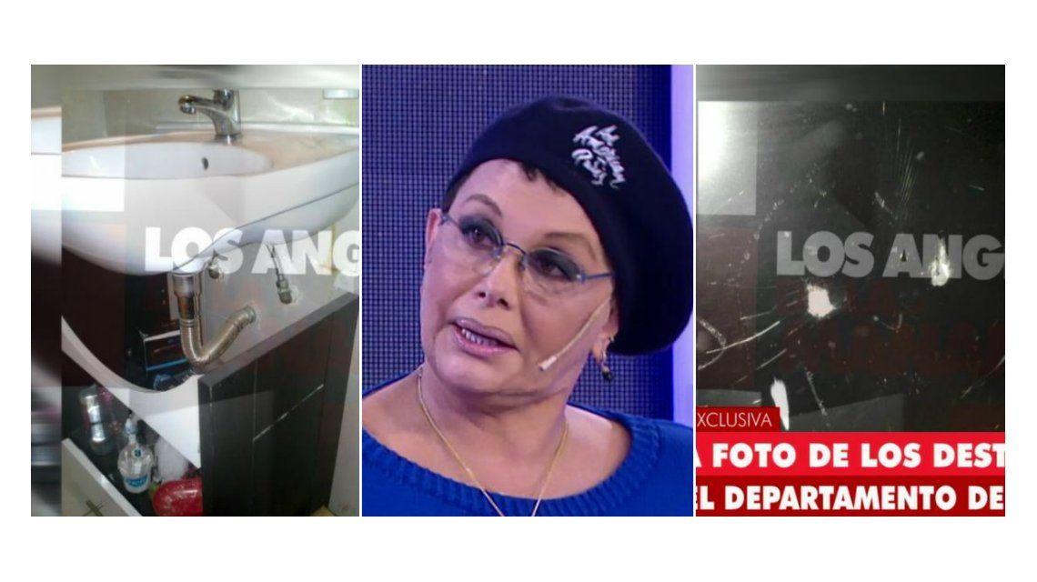 Carmen Barbieri: Barbie le quemó toda la ropa, sólo le queda una campera; las fotos de los destrozos