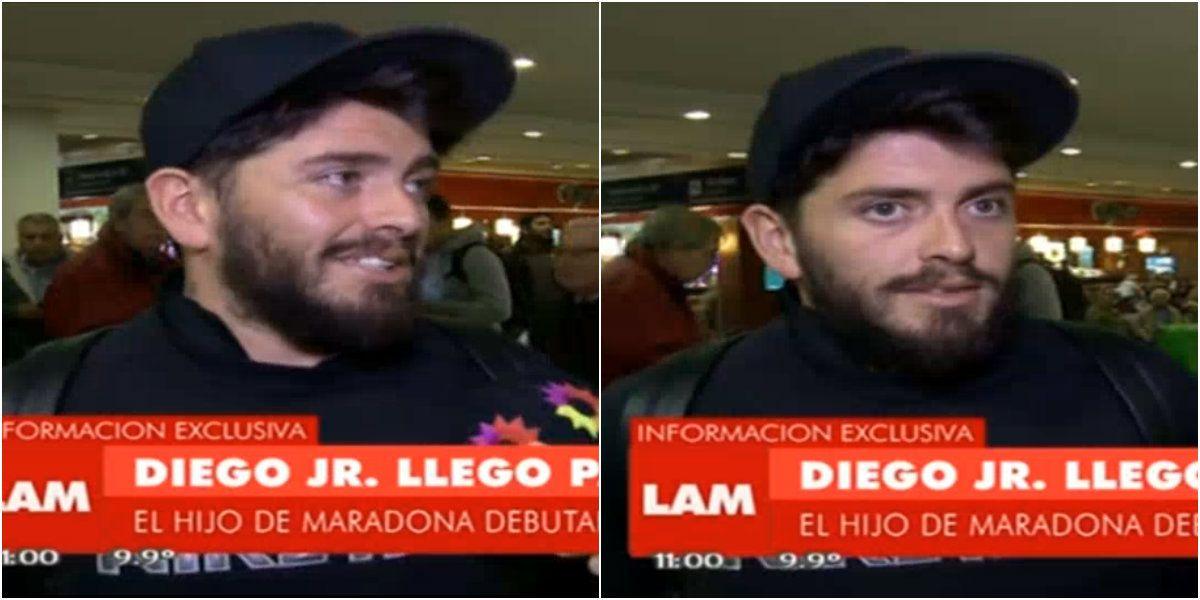Diego Jr. llegó al país para sumarse al Bailando 2016  y habló de Maradona: Lo nombraré con otro nombre