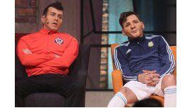 Otra desopilante actuación de Martín Bossi en Chile: Messi vs Gary Medel