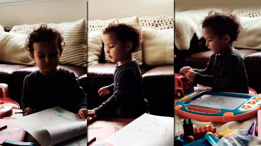 El tierno video de León, el hijo de Sabrina Garciarena y Germán Paoloski, cantando