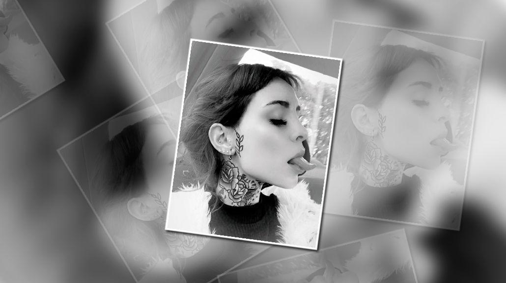 Candelaria Tinelli lució su tatuaje en la cara con una polémica frase