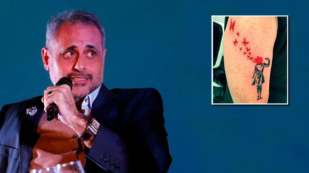 El impactante tatuaje de Jorge Rial: Ahora tengo un Banksy en mi brazo