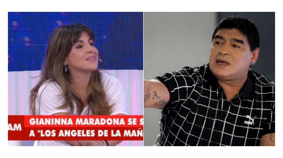 Gianinna Maradona, contundente: Yo a mi papá lo perdoné porque estaba enfermo