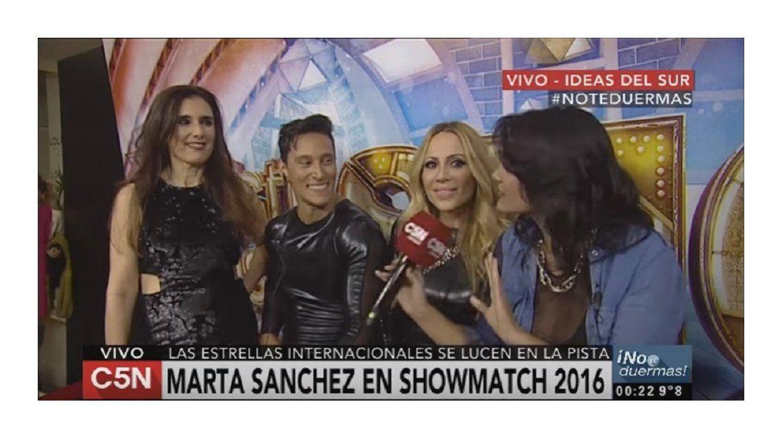 Marta Sánchez, tras su debut en el Bailando 2016: desopilante frase, piropos y saludos a su ex