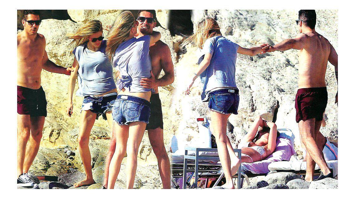 El Cholo Simeone y Carla Pereyra: días de placer en Ibiza a la espera del nacimiento de su hija