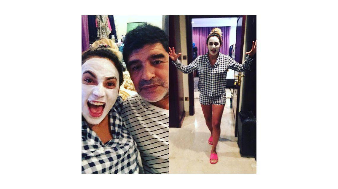 Las locuras de Rocío Oliva y Diego Maradona en Dubai: Prohibido aburrirse