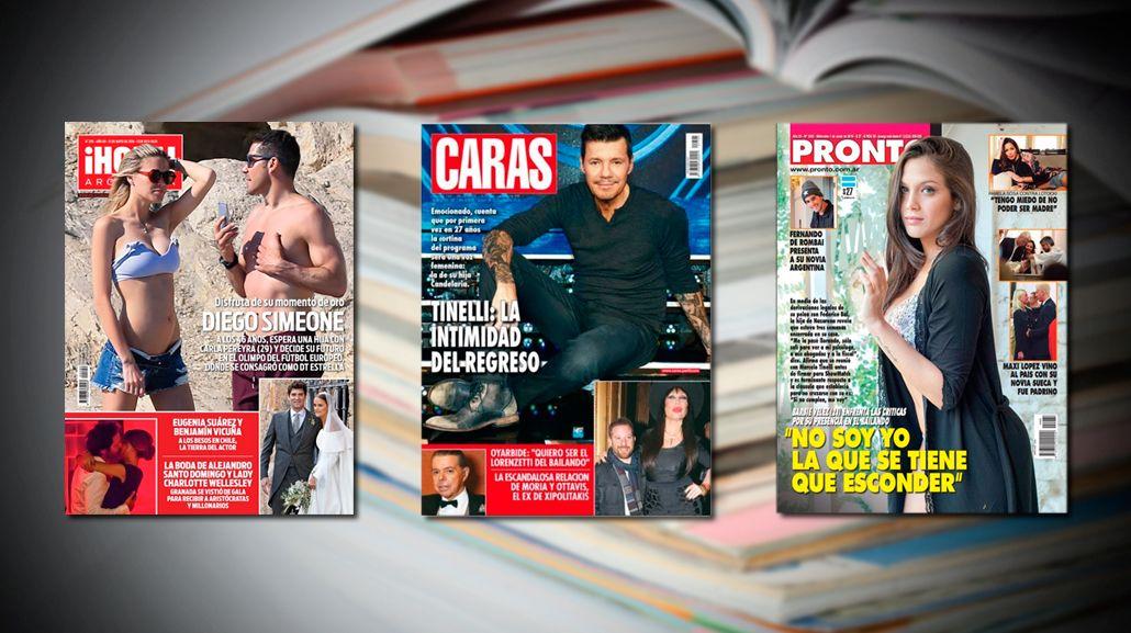 Marcelo Tinelli, emocionado por el debut de su hija Candelaria en Showmatch; y la dulce espera de Diego Simeone y su mujer