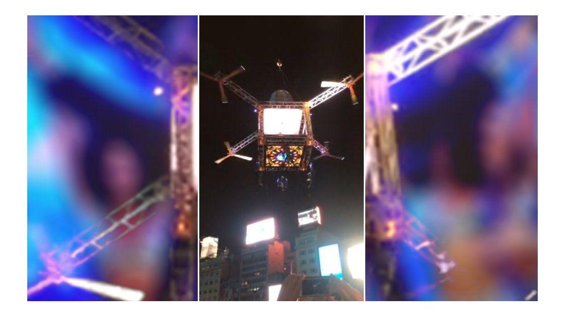 El espectacular show de Mora Godoy en las alturas: tango y drone en el Obelisco