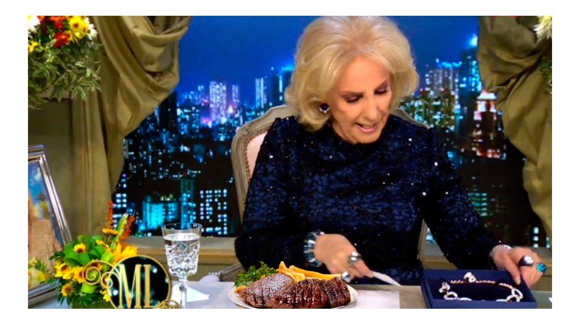 ¡Nadie comió el bife de chorizo! ¿Qué pasó en la mesa de Mirtha Legrand?