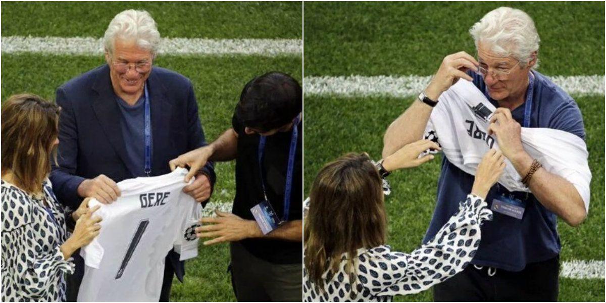Richard Gere, como un fanático más en la final de la Champions League