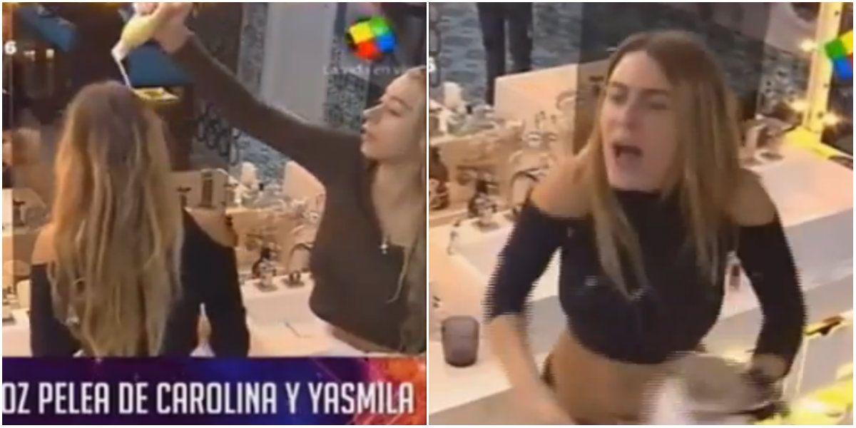 El ataque de furia de Carolina hacia Yasmila: catarata de insultos, malas palabras y gritos