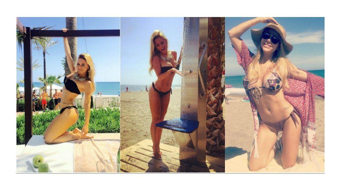 Una diosa en las playas de Marbella: Evangelina Anderson disfruta del verano europeo