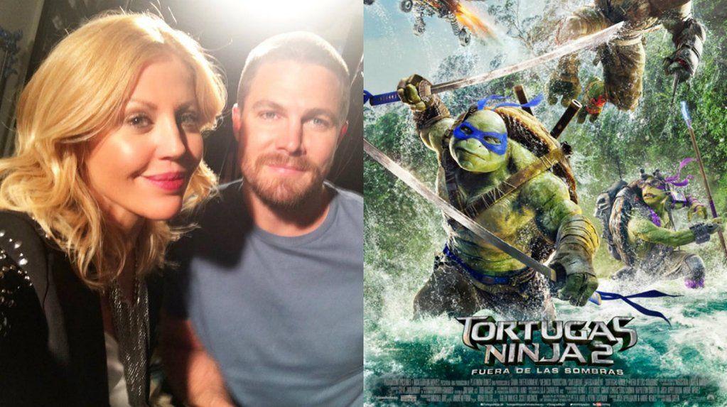 Barbie Simons, a solas con los protagonistas de Tortugas Ninja 2