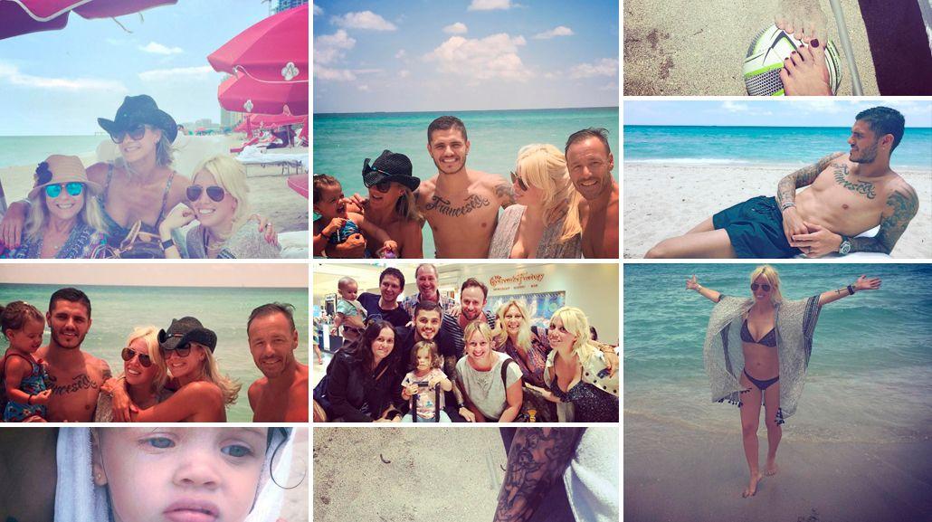 Las multitudinarias vacaciones de Wanda Nara y Mauro Icardi en Miami: lujos, sushi y ¡hasta Ana Rosenfeld!