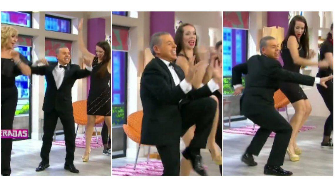 Ahora, Norberto Oyarbide bailó en el programa de Georgina Barbarossa