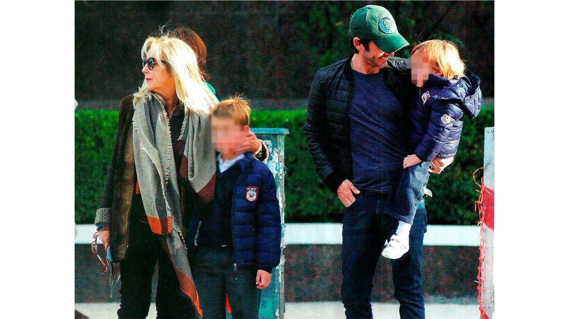 La madre de Vicuña llegó a Buenos Aires y visitó a sus nietos: Si Benjamín está feliz; yo estoy feliz