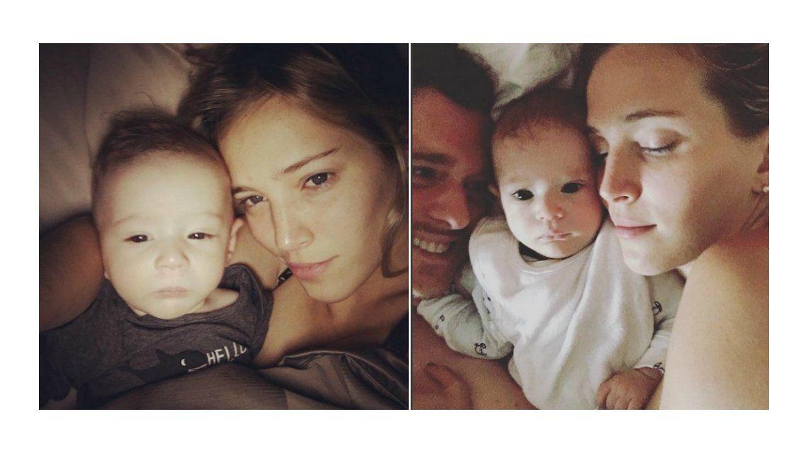 La selfie a cara lavada de Luisana Lopilato y su hijo Elías: Con jet lag, pero amándonos