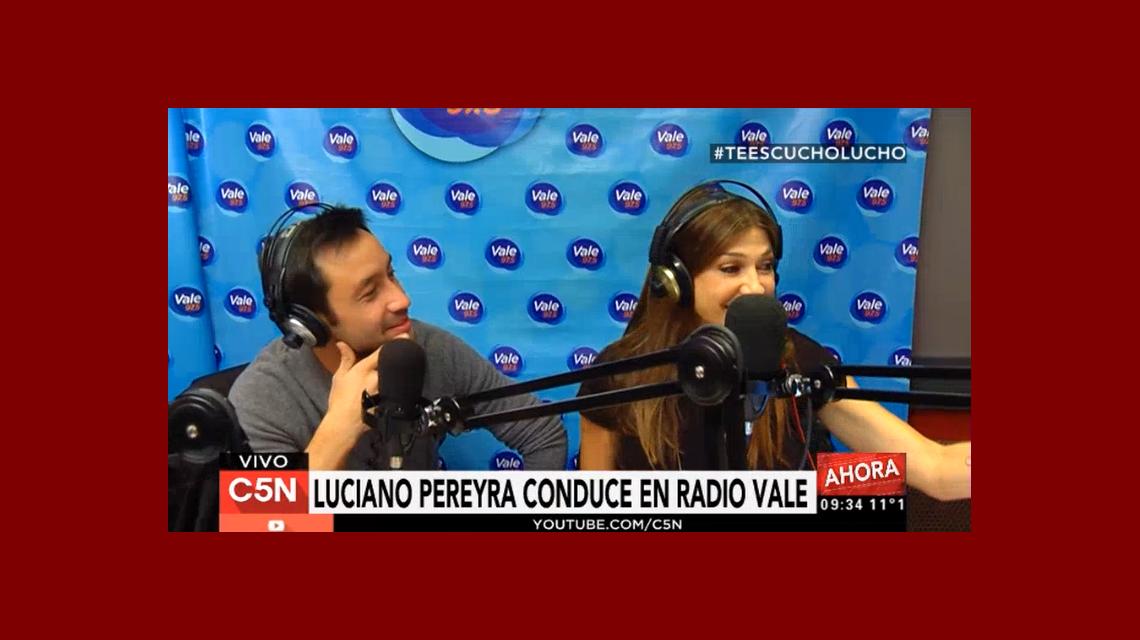 Luciano Pereyra condujo Te escucho, Lucho por Vale 97.5