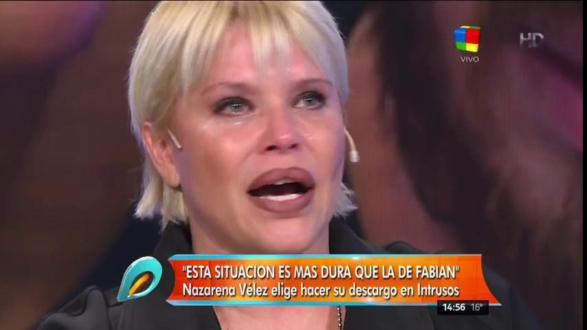 Nazarena Vélez se quebró en vivo: Fede me la cagó a trompadas a Barbie