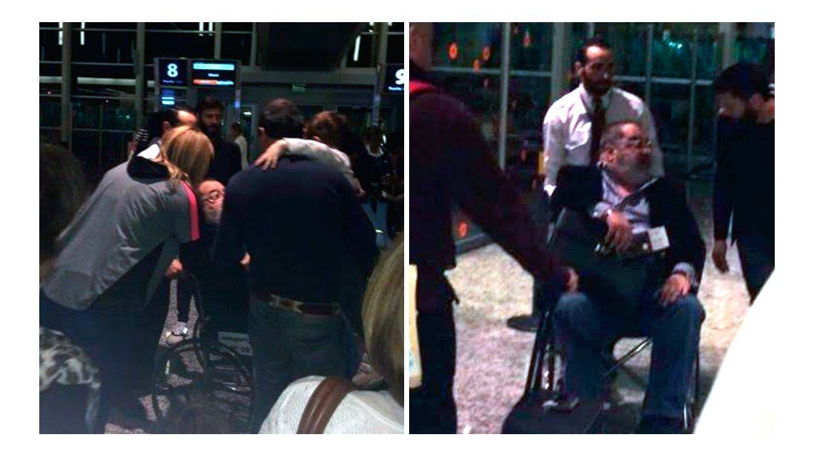 En medio de la crisis matrimonial, Jorge Lanata viajó solo y en silla de ruedas a Miami
