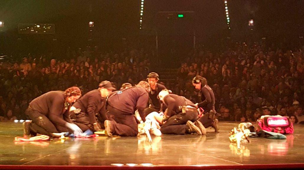 Grave accidente en Cirque du Soleil: un acróbata se cayó en plena función