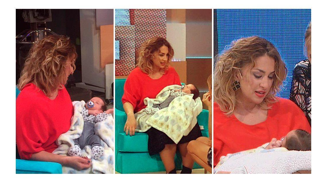 Maria Julia Oliván presentó a su hijo Antonio y explicó por qué le cambió el nombre a último momento