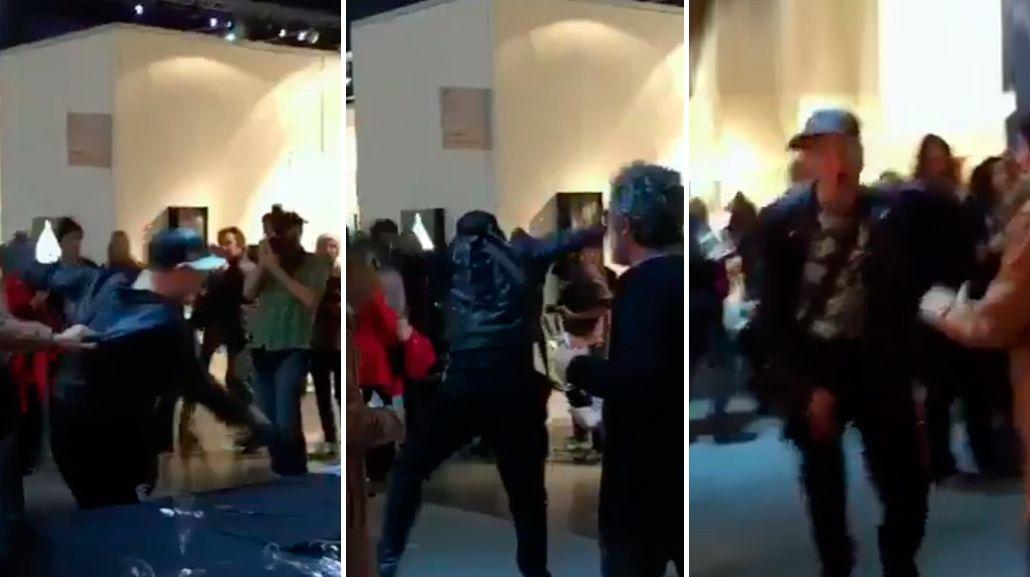 Gritos, violencia y escándalo: el video de Leo García destruyendo todo porque se quedó sin alcohol