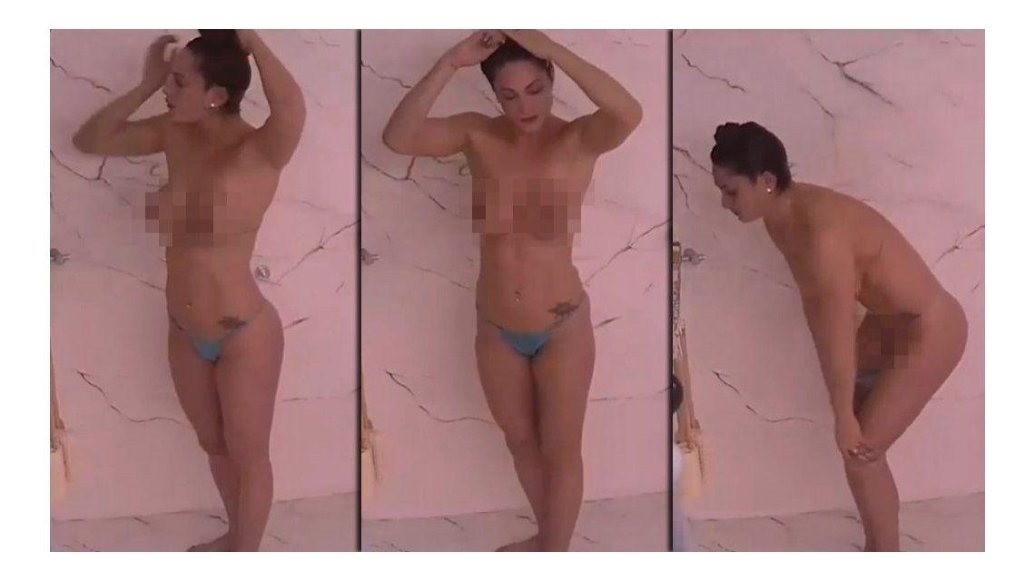 Gran Hermano: la ex de Leo Fariña hizo el primer desnudo de la casa a los 54 minutos