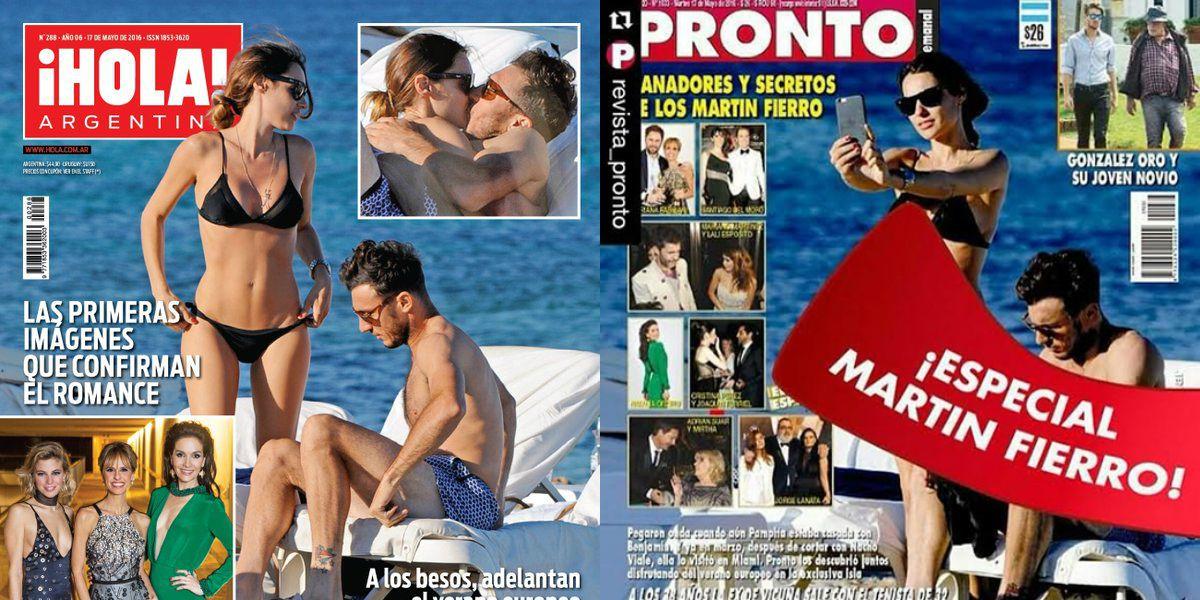 Las imágenes que confirman el romance de Pampita y Pico Mónaco