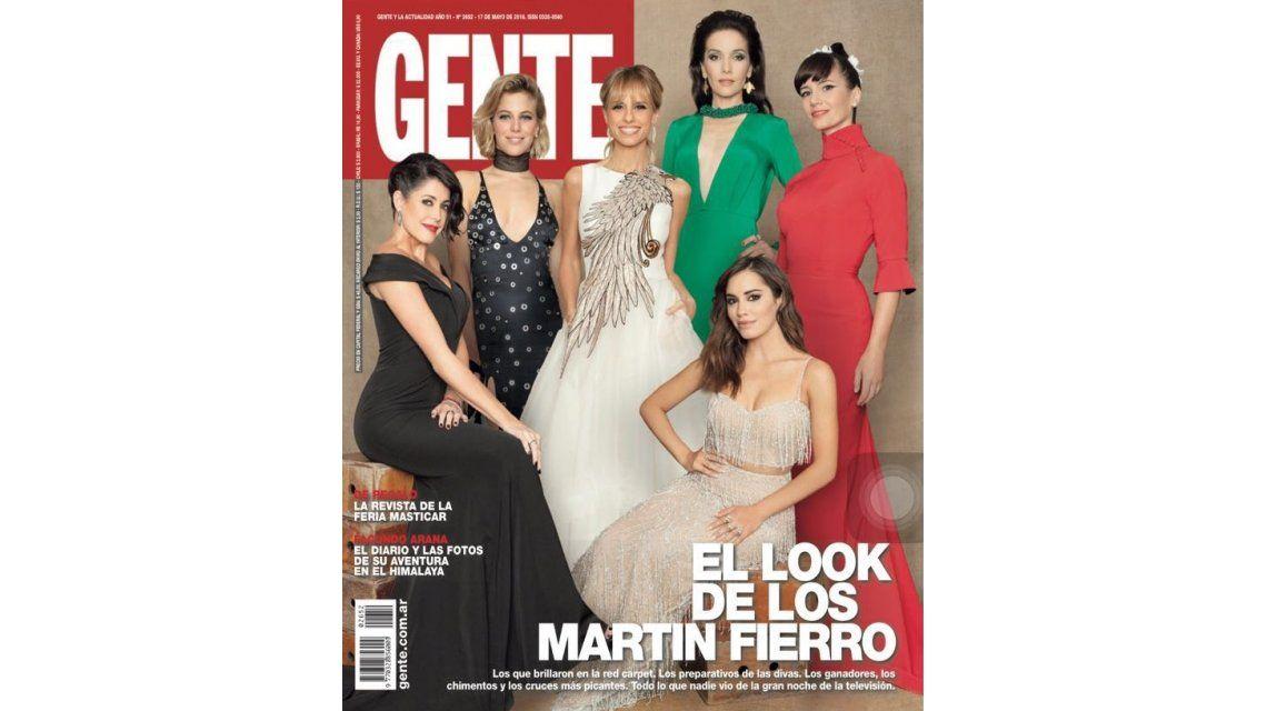 Los looks de los premios Martín Fierro, en las tapas de revistas Gente y Caras