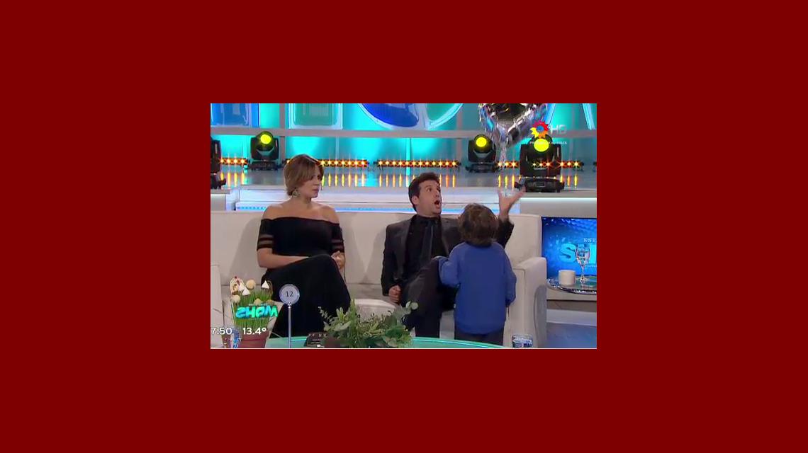 El blooper de José María Listorti con un nene durante el corte de Este es el show