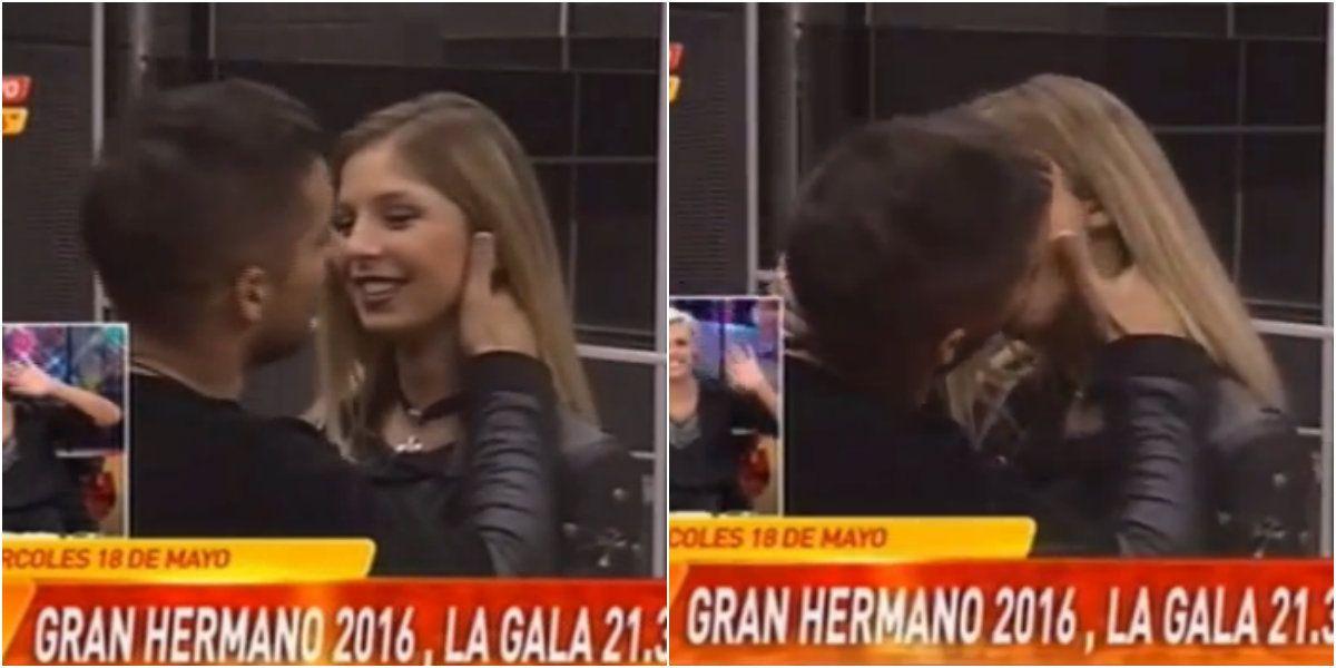 Francisco Delgado y Romina Malaspina, on fire: se dieron un gran beso durante un móvil