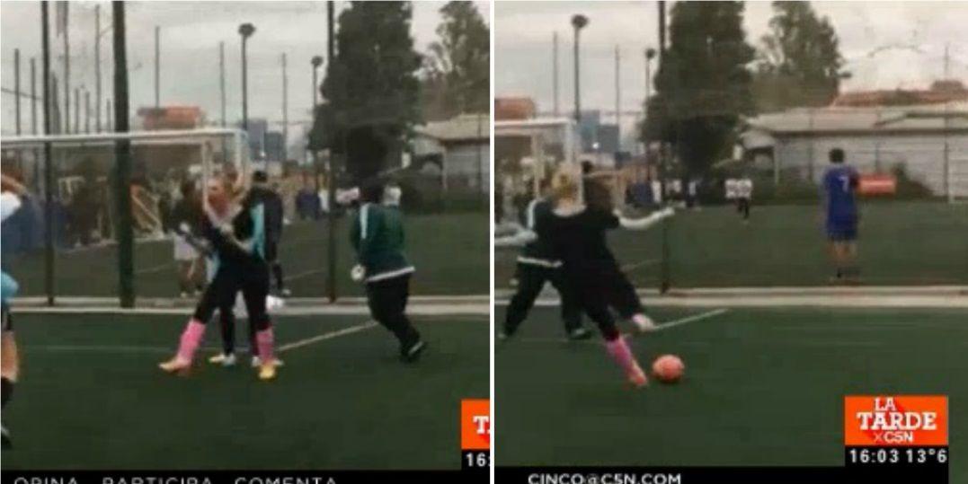 ¡Qué jugadora! Mirá a Melina Fleiderman jugando al fútbol