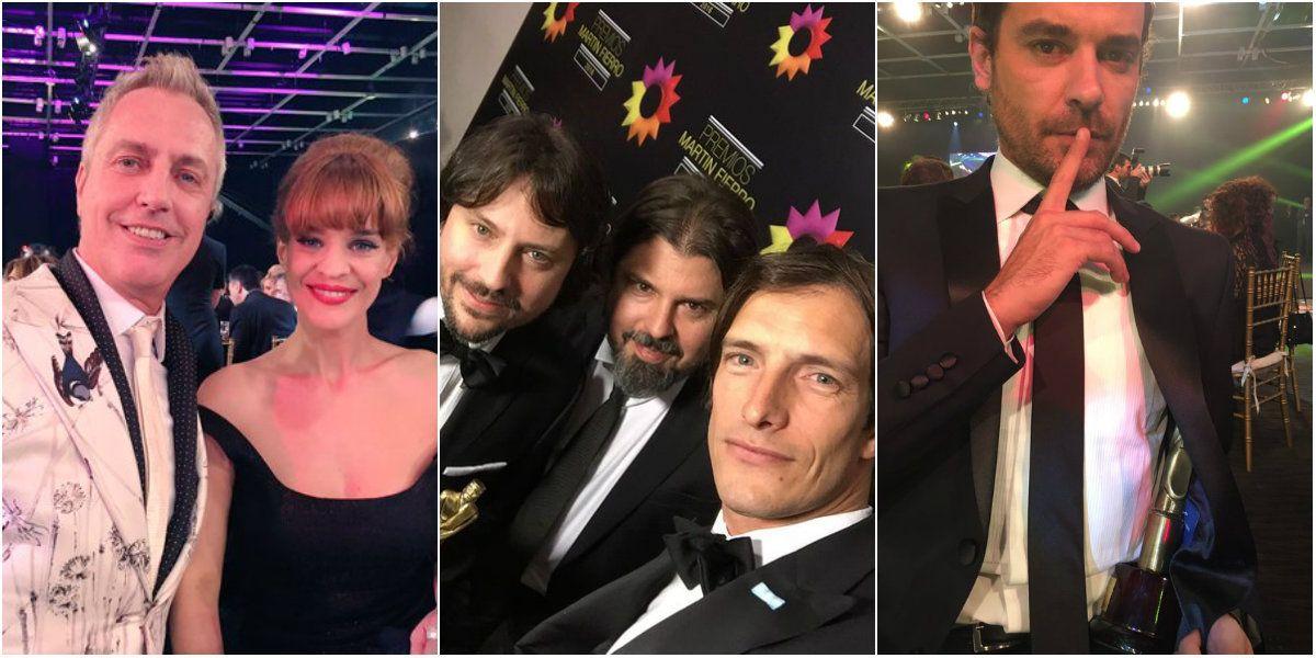 Las divertidas selfies de los famosos desde los Martín Fierro