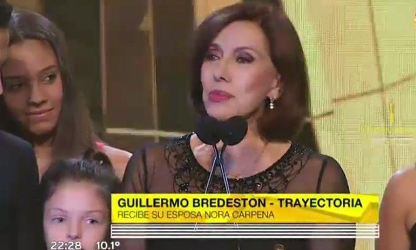 Emotivo homenaje a Guillermo Bredeston: Te lo llevo, amor, dijo Nora Cárpena