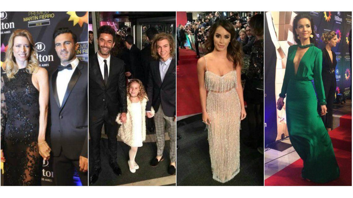 Mirá el look de los famosos en la alfombra roja de los Martín Fierro 2016