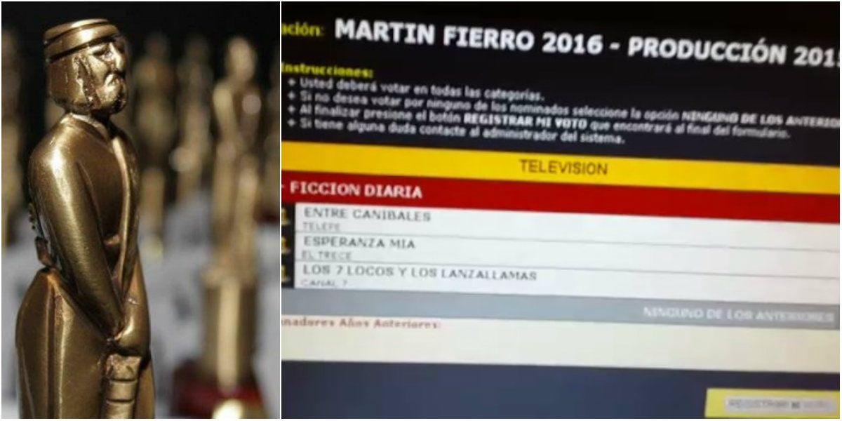 Así se vota para los Martín Fierro 2016
