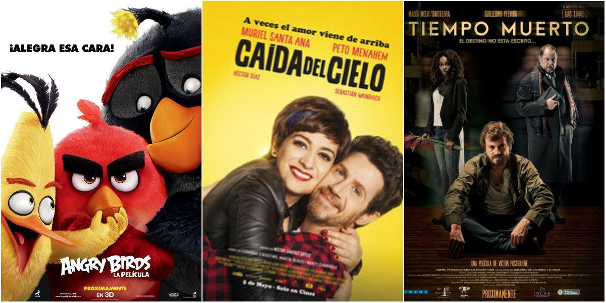 Angry Birds, Caída del cielo y Tiempo muerto, los estrenos de cine de esta semana