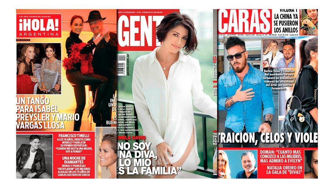 Tapas de revistas: La China Suárez y Benjamín Vicuña ya comparten anillo y Pamela David asegura que no es una diva