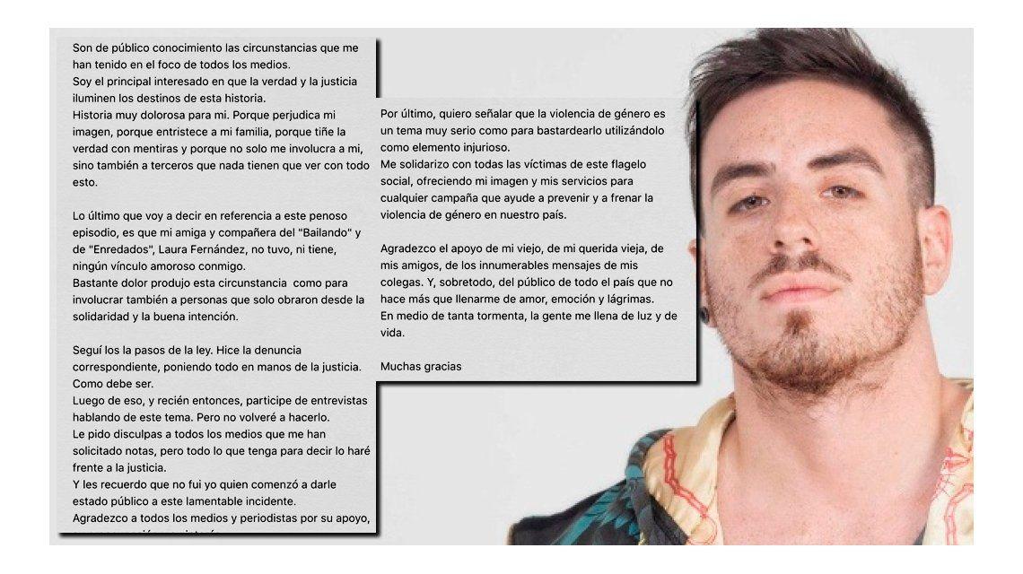 El descargo de Federico Bal: Laura Fernández no tiene ningún vínculo amoroso conmigo