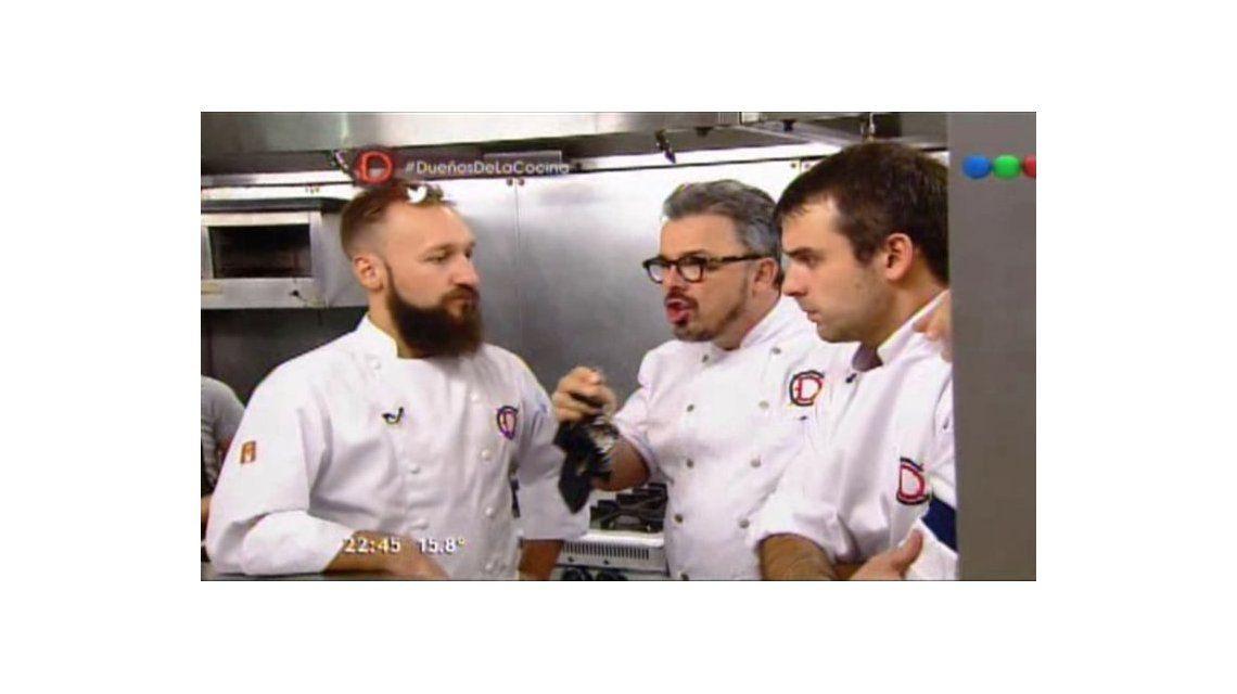 El enojo de Donato De Santis por un risotto mal hecho: Probá tu propia cagad..
