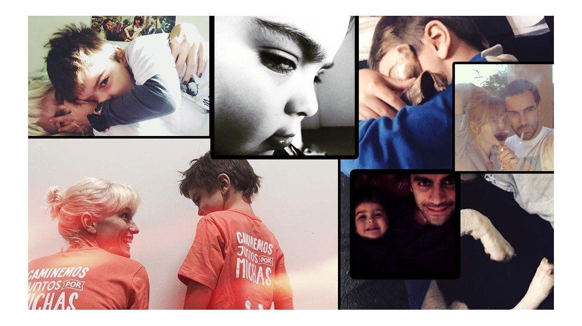 Las divertidas fotos de entrecasa de Gonzalo Heredia y Brenda Gandini con su hijo Eloy