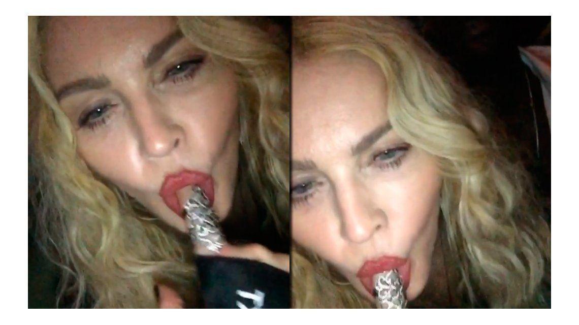 El video hot de Madonna, con gestos sexuales explícitos en una fiesta